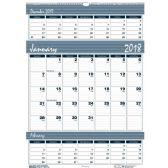 House of Doolittle Bar Harbor Triple Month Wall Calendar - Calendar