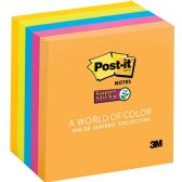 Post-it Super Sticky 3x3 Jewel Pop Coll. Pads - Adhesive note