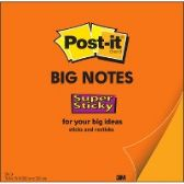 Post-it® Post-it Super Sticky Big Note, 15 in. x 15 in., Neon Orange - Office Supplies