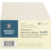 Business Source Adhesive Note Pad - Adhesive note