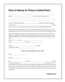 10 Units of Limited Power of Attorney, Forms and Instructions - Office Supplies