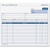 20 Units of TOPS 3-Part Phantom Rule Invoice Short Form - Office Supplies