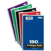 TOPS 3-subject College Ruled Notebook - Notebooks