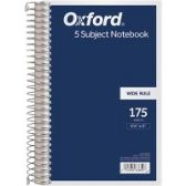TOPS 5 Subject Wirebound Notebook - Notebooks