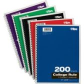 TOPS 5-subject College-ruled Notebooks - Notebooks