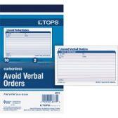 TOPS Avoid Verbal Orders Book - Office Supplies