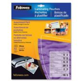 Fellowes Hot Laminating Pouches, Assorted ,3mil, 52PK - Office Accessories