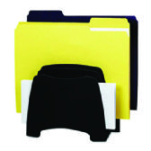 Fellowes Partition Additions Step File, Dark Graphite - Office Accessories
