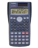 Casio, FX-300MS Scientific Calculator, Battery/Solar Powered, Black - Office Accessories