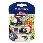 Verbatim Mini USB Flash Drive, 98662, 8GB, Tattoo Series - Phoenix - FLASH MEM