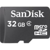 SanDisk microSDHC Mobile Memory Card, 32GB, SDSDQM-032G-B35A, Class 4, With Adapter - FLASH MEM
