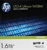 HP LTO, Ultrium-4, C7974W, 7A, 800GB/1600GB, WORM, TAA - Data Media