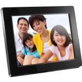 Aluratek 12 inch Digital Photo Frame with 2GB Built In Memory and Remote, ADMPF512F, Black - CE