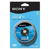 Sony DVD-R, 10DMR30RS1H, 1.4GB, 8CM, Skin Pack, 10pk Spindle - CD/DVD/BDR