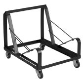 HERCULES Series Black Steel Sled Base Stack Chair Dolly - Hardware Products
