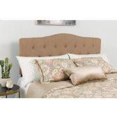 Cambridge Tufted Upholstered Full Size Headboard in Camel Fabric - Headboards