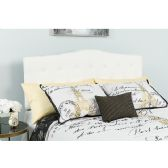 Cambridge Tufted Upholstered Full Size Headboard in White Fabric - Headboards
