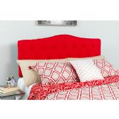 Cambridge Tufted Upholstered King Size Headboard in Red Fabric - Headboards