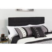Bedford Tufted Upholstered King Size Headboard in Black Fabric - Headboards