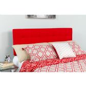 Bedford Tufted Upholstered King Size Headboard in Red Fabric - Headboards