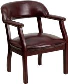 Oxblood Vinyl Luxurious Conference Chair with Accent Nail Trim - Lounge