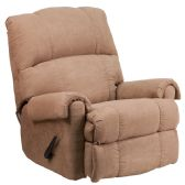 Contemporary Victory Lane Taupe Fabric Rocker Recliner - Recliners