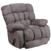 Contemporary Softsuede Graphite Microfiber Rocker Recliner - Recliners