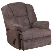 Contemporary Hillel Pewter Chenille Rocker Recliner - Recliners
