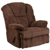 Contemporary Hillel Chocolate Chenille Rocker Recliner - Recliners