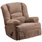Contemporary Dynasty Camel Microfiber Rocker Recliner - Recliners