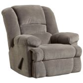 Contemporary Dynasty Smoke Microfiber Rocker Recliner - Recliners