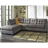 Benchcraft Maier Sectional with Left Side Facing Chaise in Charcoal Microfiber - Sectionals