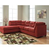Benchcraft Maier Sectional with Left Side Facing Chaise in Sienna Microfiber - Sectionals