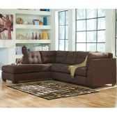 Benchcraft Maier Sectional with Left Side Facing Chaise in Walnut Microfiber - Sectionals