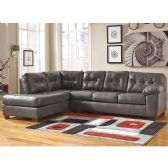 Signature Design by Ashley Alliston Sectional with Left Side Facing Chaise in Gray DuraBlend - Sectionals