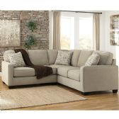 Signature Design by Ashley Alenya 2-Piece Sofa Sectional in Quartz Microfiber - Sectionals