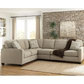 Signature Design by Ashley Alenya 3-Piece LAF Sofa Sectional in Quartz Microfiber - Sectionals