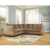 Signature Design by Ashley Darcy Sectional in Mocha Microfiber - Sectionals