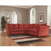 Signature Design by Ashley Darcy Sectional in Salsa Microfiber - Sectionals