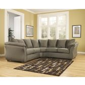 Signature Design by Ashley Darcy Sectional in Sage Microfiber - Sectionals