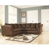 Signature Design by Ashley Darcy Sectional in Cafe Microfiber - Sectionals