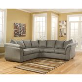 Signature Design by Ashley Darcy Sectional in Cobblestone Microfiber - Sectionals