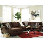 Signature Design by Ashley Jayceon 3-Piece RAF Sofa Sectional in Java Fabric - Sectionals