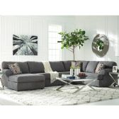 Signature Design by Ashley Jayceon 3-Piece RAF Sofa Sectional in Steel Fabric - Sectionals