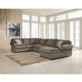Signature Design by Ashley Jessa Place Sectional in Dune Fabric - Sectionals