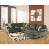 Signature Design by Ashley Jessa Place Sectional in Pewter Fabric - Sectionals