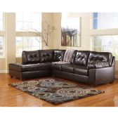 Signature Design by Ashley Alliston Sectional in Chocolate DuraBlend - Sectionals