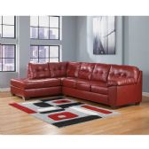Signature Design by Ashley Alliston Sectional in Salsa DuraBlend - Sectionals