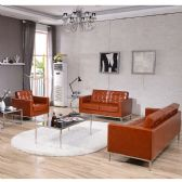 HERCULES Lacey Series Reception Set in Cognac - Sofa Sets