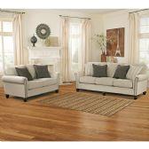 Signature Design by Ashley Milari Living Room Set in Linen - Sofa Sets